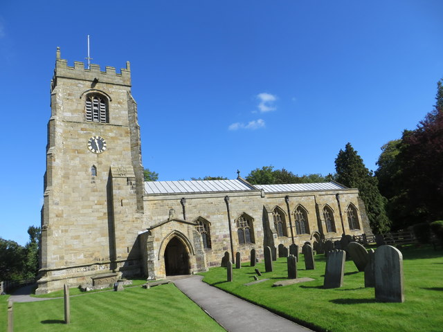 The Church of St Andrew at Kirkby Malzeard