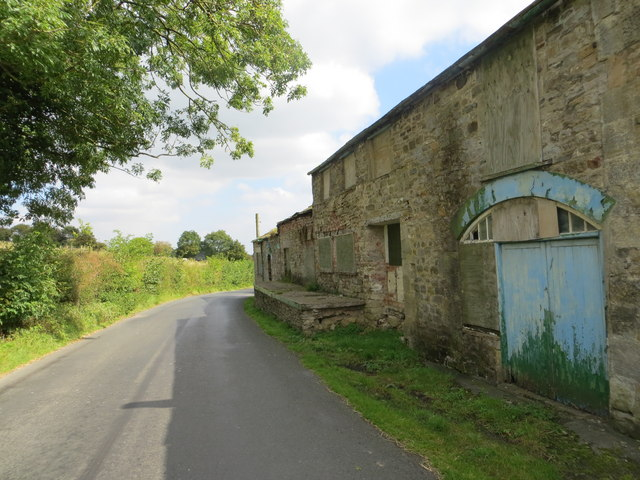 Road and Disused Dairy Building near Coverham