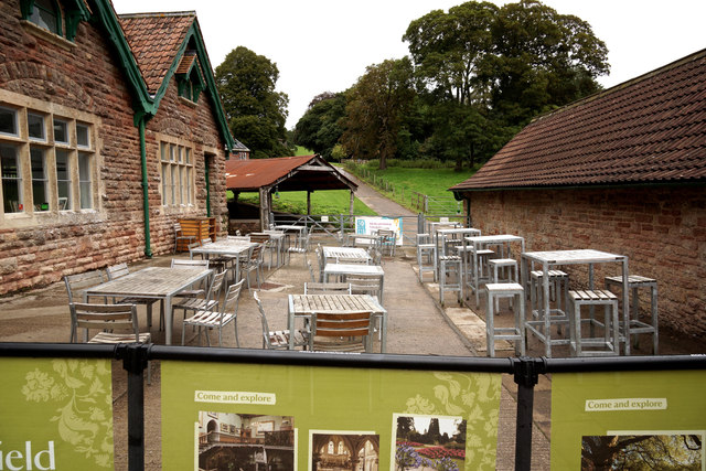Café seating at Tyntesfield