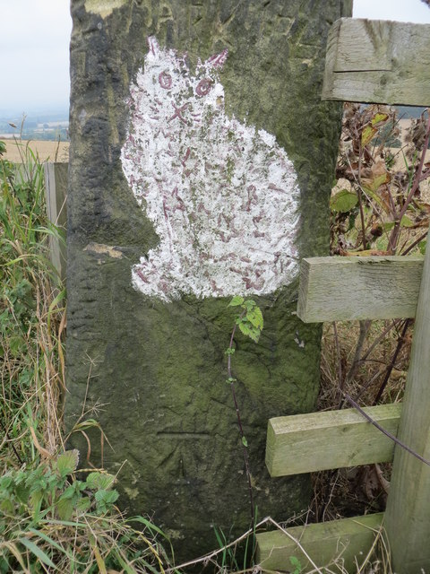 Cat Stone beside the High Weardley to Eccup Road