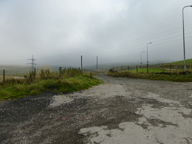 Swaindrod Lane in the mist