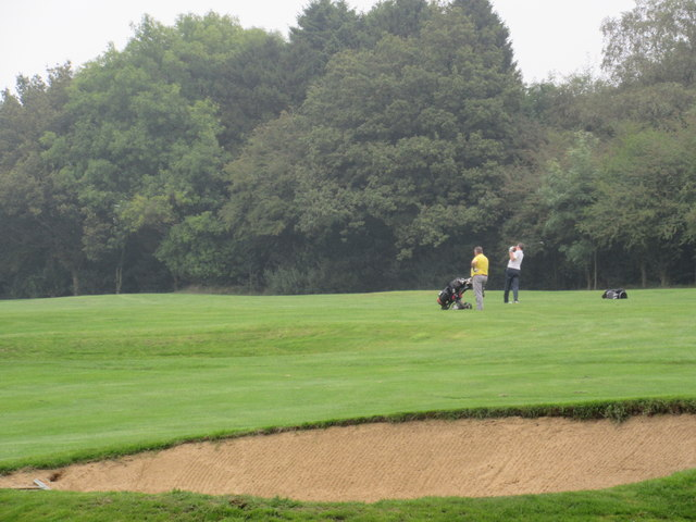 Golfers on North Down Golf Course