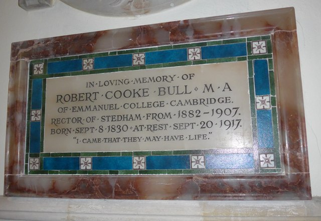 All Hallows, Woolbeding: memorial to a former incumbent (B)