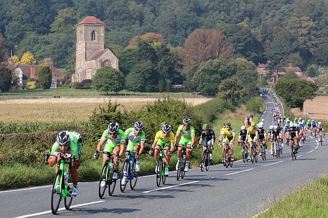 Tour of Britain bike race, Little Malvern