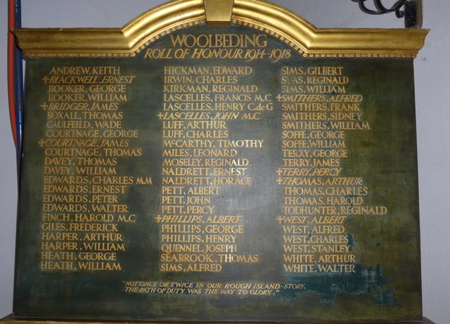 All Hallows, Woolbeding: roll of honour
