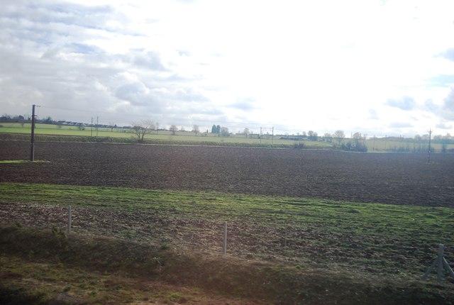 Farmland by the New Cambridge Line