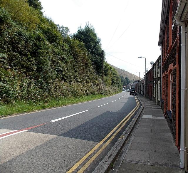 Main road through Lluest