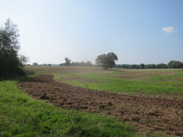 Recently ploughed land in the Chew Valley
