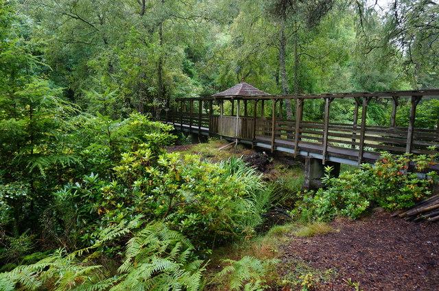 Footbridge over Loch Dunmore