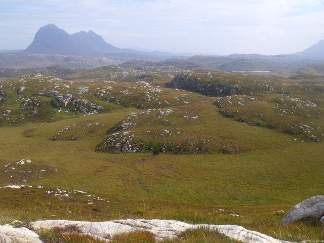 Looking east from above Loch a' Chapuill near Lochinver