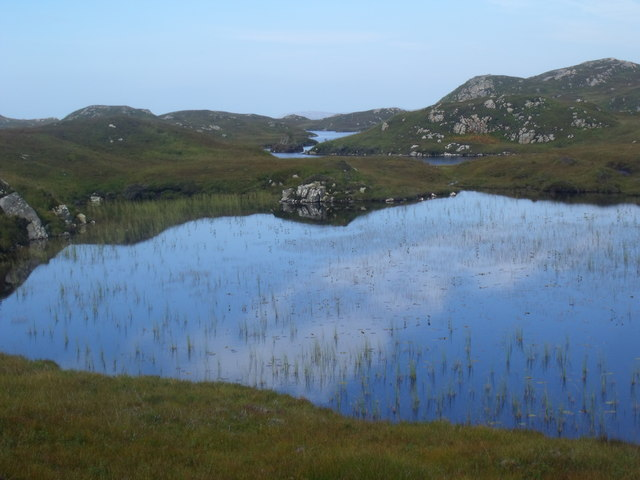 Lochan and Loch a' Chapuill near Lochinver