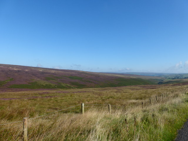 Valley of the Turvin Clough from Blackstone Edge Road