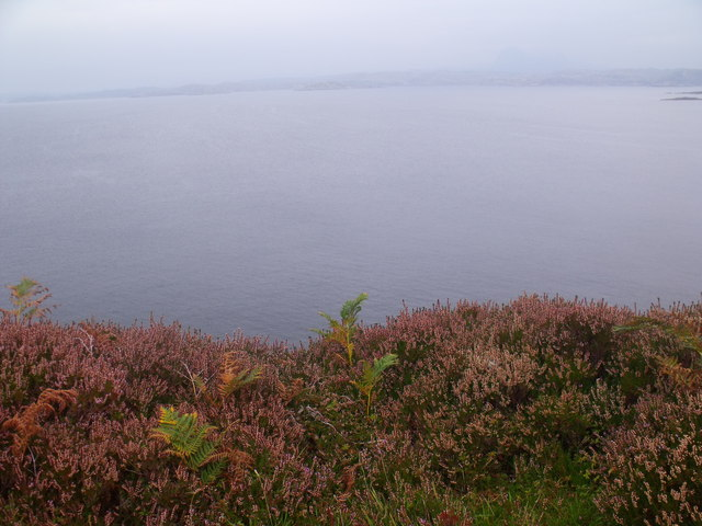 Looking east on the very edge of Rubha Duilich near Altandhu, Lochinver