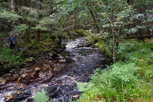 The Allt na Bogair looking upstream