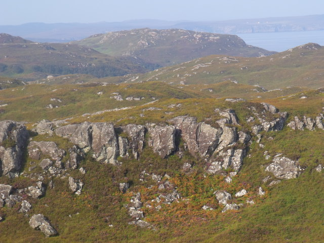 Cliff on hillside near Lochinver