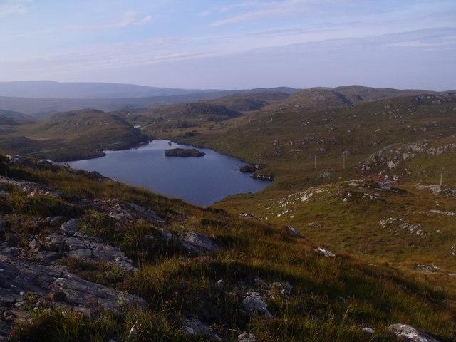 Hillside above Black Loch near Lochinver