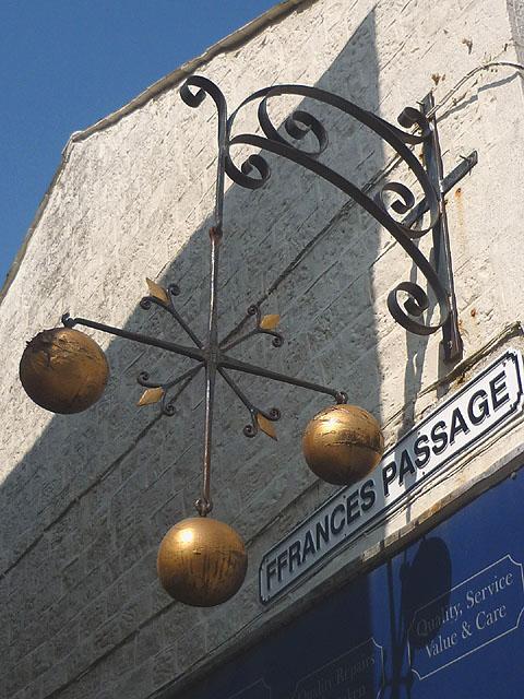 Pawnbrokers sign, Ffrances Passage, Lancaster