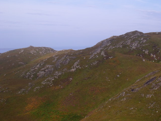 Ridge bounding glen at the back of Creag nan Sithean near Lochinver