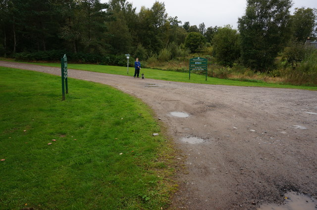 Entrance to the Forestry Commission carpark, Carie