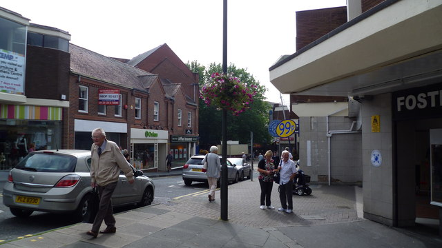 Part of Kidderminster town centre
