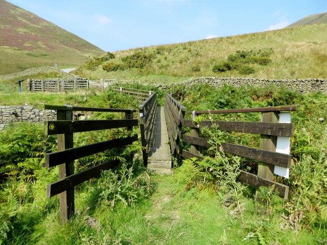 Footbridge over the Whitendale