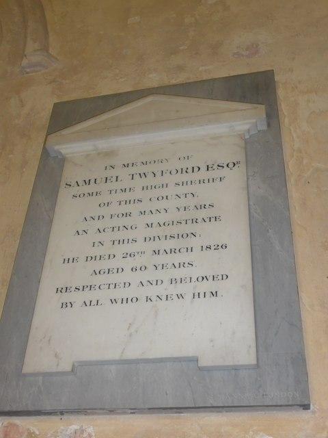 Saint George, Trotton: Twyford family memorial (ii)