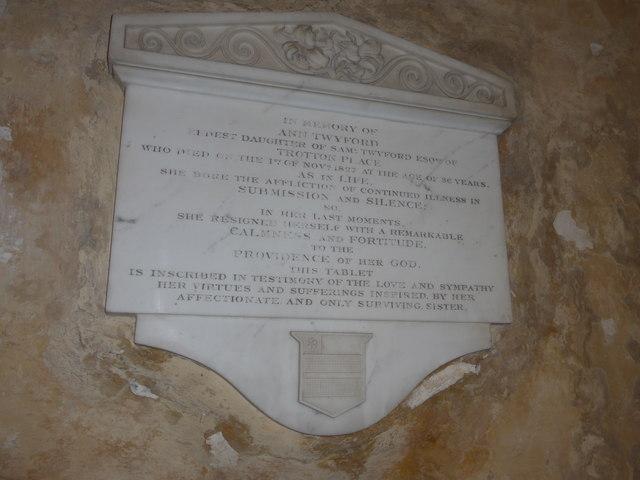 Saint George, Trotton: Twyford family memorial (iii)