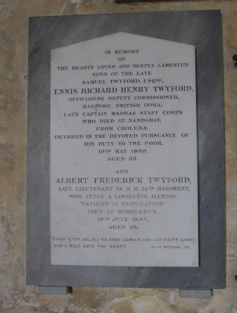 Saint George, Trotton: Twyford family memorial (iv)