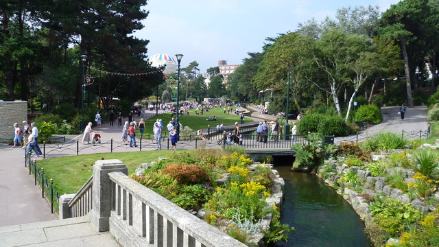 Part of the Lower Pleasure Gardens in Bournemouth