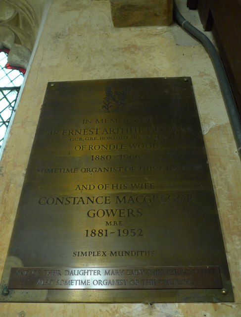 Memorial to a distinguished organist
