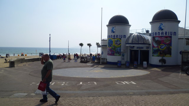 Near the Oceanarium in Bournemouth