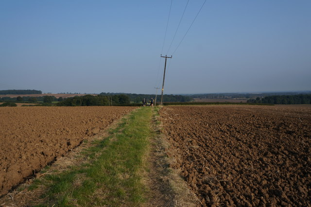Bridleway leading to Cadeby Hall