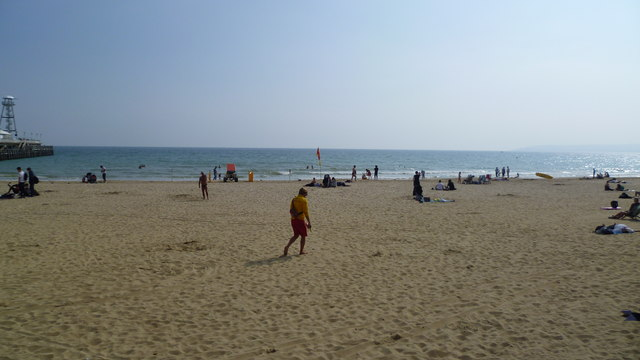 Part of the seafront and beach, Bournemouth