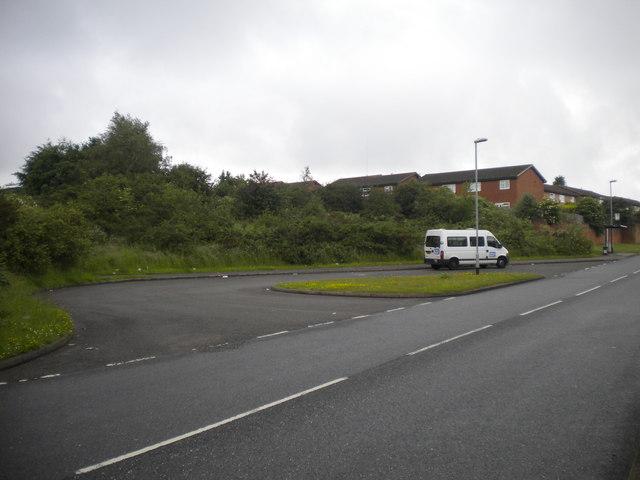 Former bus turning circle, Oak Tree estate