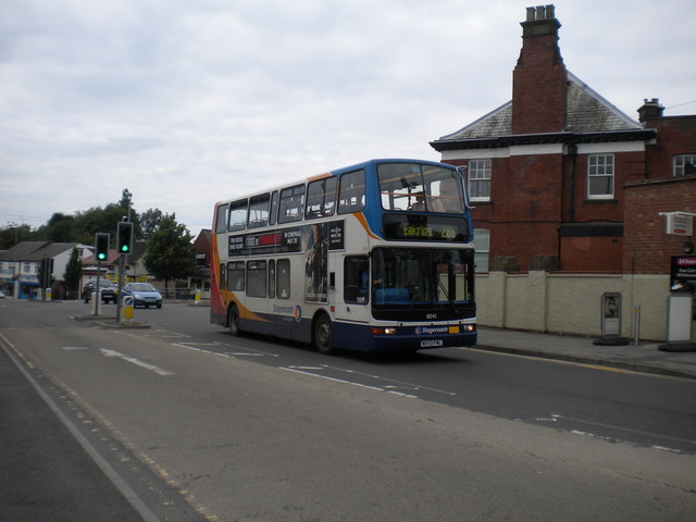 Bus on Southwell Road East, Rainworth