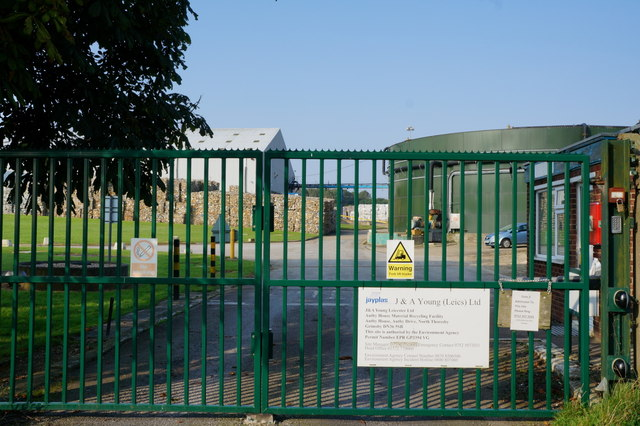 Entrance to Jayplas Recycling Facility, Autby