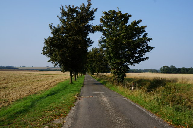 Bridleway leading to the A16