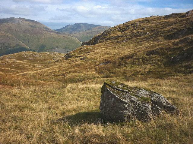 A boulder on Ullscarf