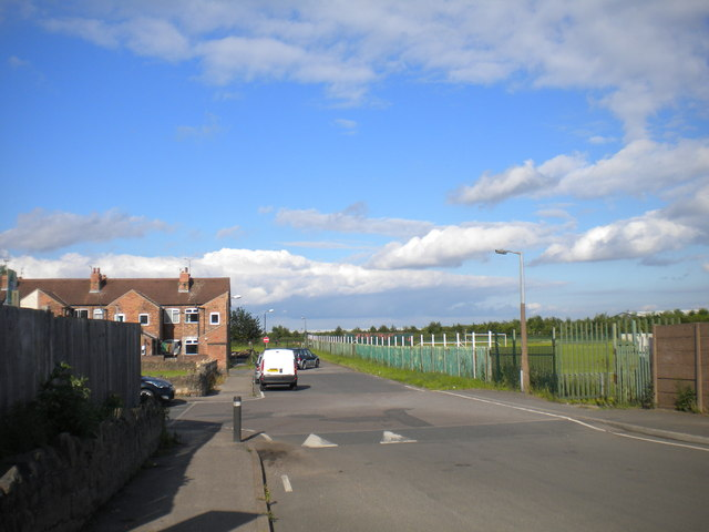 South end of Vale Drive, Shirebrook