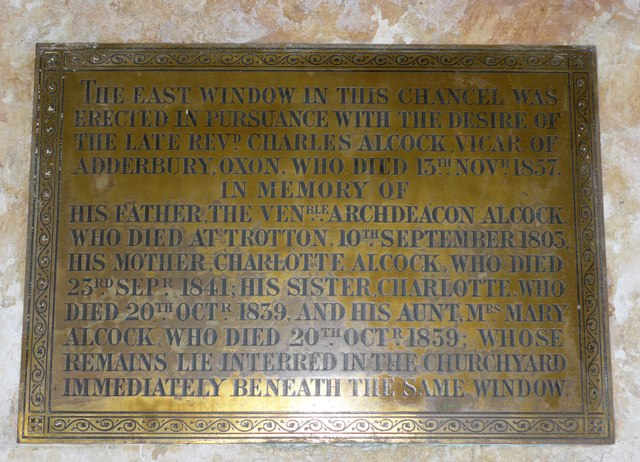 Saint George, Trotton: memorial to a clerical family