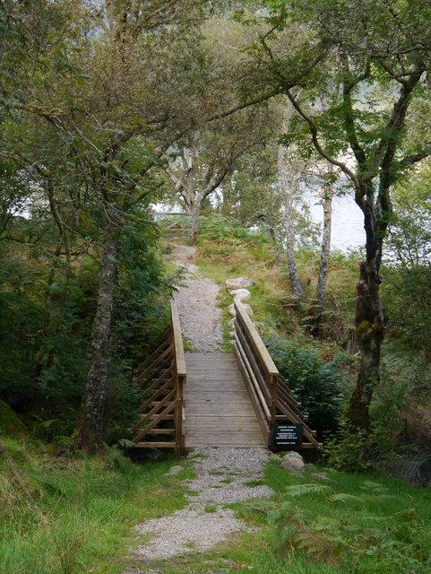 A Footbridge Over The Allt Reinain