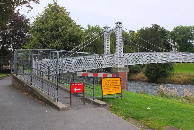 Temporary closure of Priorsford footbridge, Peebles