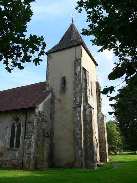 Saint George, Trotton: spire