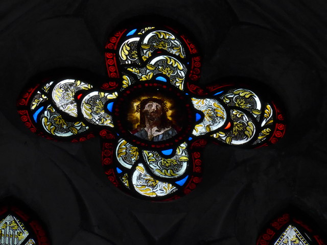 Saint George, Trotton: stained glass detail (III)