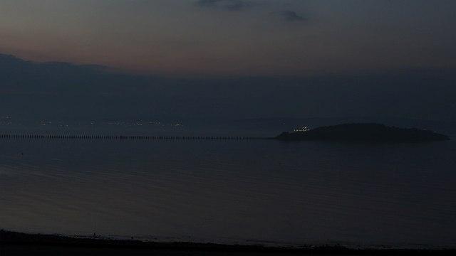 Cramond Island at dusk