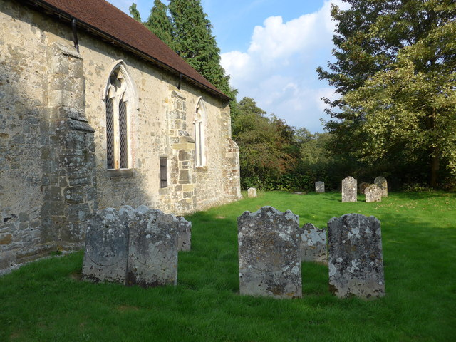 Saint George, Trotton:  late summer in the churchyard (c)