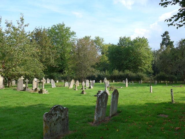 Saint George, Trotton:  late summer in the churchyard (e)