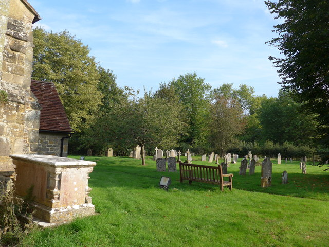 Saint George, Trotton:  late summer in the churchyard (d)