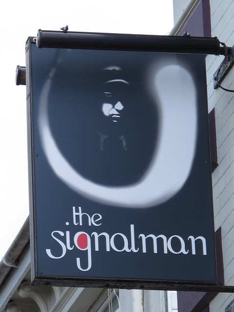 Sign for the signalman, Ditchling Rise, BN1