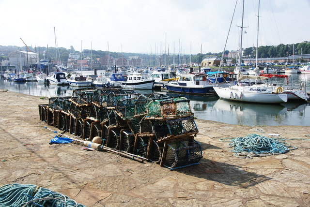 Lobster pots by the River Esk